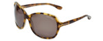 Tom-Ford Designer Sunglasses Sheila TF186-56J in Tortoise with Amber Lens