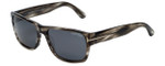 Tom-Ford Designer Sunglasses Mason TF445-20A in Striped-Grey with Smoke Lens
