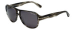 Tom-Ford Designer Sunglasses Dylan TF446-20A in Striped-Grey with Smoke Lens