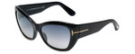 Tom-Ford Designer Sunglasses Corinne TF460-01C in Black with Grey-Gradient Lens