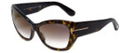 Tom-Ford Designer Sunglasses Corinne TF460-52G in Havana with Brown-Gradient Lens
