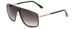 Tom-Ford Designer Sunglasses Quentin TF463-98K in Dark-Green with Brown-Gradient Lens