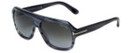 Tom-Ford Designer Sunglasses Omar TF465-20B in Striped-Grey with Smoke-Gradient Lens