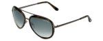 Tom-Ford Designer Sunglasses Andy TF468-50B in Striped-Dark-Brown with Smoke-Gradient Lens