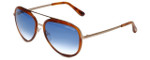 Tom-Ford Designer Sunglasses Andy TF468-56W in Gold-Havana with Blue-Gradient Lens