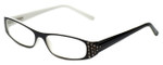 Corinne McCormack Designer Eyeglasses Lexi in Black-White 50mm :: Custom Left & Right Lens