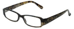 Corinne McCormack Designer Reading Glasses Libby in Gold-Snake-Skin 50mm