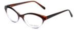 Valerie Spencer Designer Eyeglasses VS9312-BRN in Brown/Lilac Crystal 53mm :: Progressive