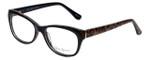 Valerie Spencer Designer Eyeglasses VS9290-BLK in Black/Leopard 52mm :: Progressive