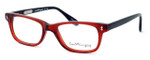 Ernest Hemingway Designer Eyeglasses H4617 (Small Size) in Red-Black 48mm :: Rx Single Vision