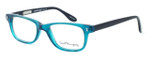 Ernest Hemingway Designer Eyeglasses H4617 (Small Size) in Teal-Black 48mm :: Rx Single Vision