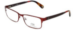Carolina Herrera Designer Eyeglasses VHE074-08C6 in Red Tortoise 56mm :: Rx Single Vision