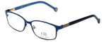 Carolina Herrera Designer Eyeglasses VHE065-08A3 in Blue Gloss 53mm :: Progressive