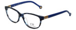 Carolina Herrera Designer Eyeglasses VHE590-0M00 in Blue Havana 53mm :: Progressive