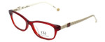 Carolina Herrera Designer Eyeglasses VHE629-0723 in Polished Red 52mm :: Progressive