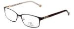 Carolina Herrera Designer Eyeglasses VHE065-0H98 in Shiny Black Brown 53mm :: Rx Bi-Focal