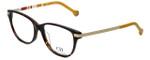 Carolina Herrera Designer Eyeglasses VHE637-0743 in Havana Yellow 53mm :: Rx Bi-Focal