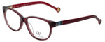 Carolina Herrera Designer Reading Glasses VHE590-04GB in Crystal Dark Red 53mm