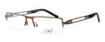 Dale Earnhardt, Jr. Designer Eyeglasses DJ6744 in Brown 54mm :: Rx Single Vision