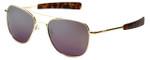 Randolph Designer Sunglasses Aviator in Gold with Midnight Metallic LensLens