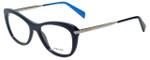 Prada Designer Eyeglasses VPR09R-TFM1O1 in Blue 51mm :: Rx Single Vision