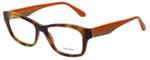 Prada Designer Eyeglasses VPR24R-TKR1O1 in Havana Orange 52mm :: Rx Single Vision