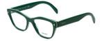 Prada Designer Eyeglasses VPR27S-UR11O1 in Green 51mm :: Rx Single Vision
