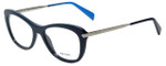 Prada Designer Eyeglasses VPR09R-TFM1O1 in Blue 51mm :: Progressive