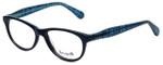Betsey Johnson Designer Eyeglasses Fishnet BV108-05 in Blue 53mm :: Rx Bi-Focal