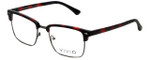 Calabria Viv Designer Reading Glasses Vivid-257 in Demi Red 52mm