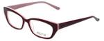 Ecru Designer Eyeglasses Bowie-001 in Wine 50mm :: Progressive