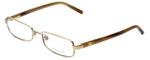 Burberry Designer Eyeglasses B1043-1002 in Gold 50mm :: Rx Single Vision
