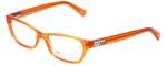 Giorgio Armani Designer Eyeglasses AX3008-8014 in Clementine Transparent 49mm :: Progressive