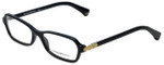 Emporio Armani Designer Eyeglasses EA3009-5017 in Black 52mm :: Custom Left & Right Lens