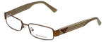 Emporio Armani Designer Eyeglasses EA9400-OLT in Shiny Bronze White 51mm :: Custom Left & Right Lens