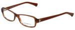 Emporio Armani Designer Reading Glasses EA3016-5099-51 in Striped Brown 51mm