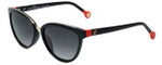 Carolina Herrera Designer Sunglasses SHE688-700K in Black
