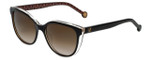 Carolina Herrera Designer Sunglasses SHE694-09W2 in Havana Crystal
