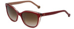 Carolina Herrera Designer Sunglasses SHE694-0B42 in Red Pearl