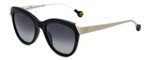 Carolina Herrera Designer Sunglasses SHE743-0700 in Black White