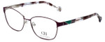 Carolina Herrera Designer Eyeglasses VHE109K-0S46 in Purple Havana 55mm :: Rx Single Vision