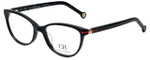 Carolina Herrera Designer Eyeglasses VHE660K-0700 in Shiny Black 52mm :: Rx Single Vision