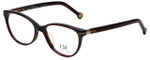 Carolina Herrera Designer Eyeglasses VHE660K-09XK in Dark Havana 52mm :: Rx Single Vision