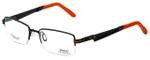 Sports Charriol Designer Eyeglasses SP23009-C1 in Black Orange 53mm :: Progressive