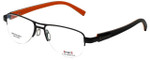 Sports Charriol Designer Eyeglasses SP23019-C4 in Black Orange 54mm :: Progressive