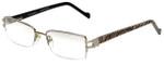 Charriol Designer Reading Glasses PC7177-C2 in Silver Zebra 52mm
