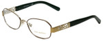 Tory Burch Designer Eyeglasses TY1043-3061 in Brown Gold 52mm :: Progressive