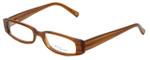Daisy Fuentes Designer Eyeglasses DFMIA-247 in Brown Pearl 49mm :: Rx Single Vision