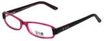Daisy Fuentes Designer Eyeglasses DFPEACE410-130 in Berry Black 52mm :: Rx Single Vision