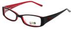 Daisy Fuentes Designer Eyeglasses DFPEACE417-021 in Black 50mm :: Rx Single Vision